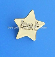 2012 power up trading pins for match,custom lapel pin, gold brooch pin