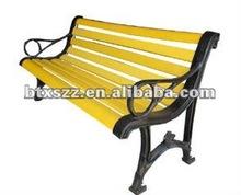 wooden slat iron casting garden bench chair