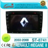 2 Din 7 inch Renault Megane II car with dvd/cd/mp3/mp4/bluetooth/ipod/radio/tv/gps! wince 6.0 system!