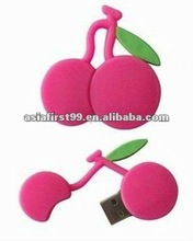 fashion cherry PVC USB flash drive