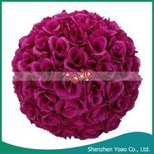 9.84 Inch Purple Flower Ball Wedding Decoration