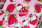 Lovely hello kitty print coral fleece blanket