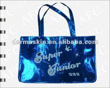 Shine Blue Non woven fabric shopping bag