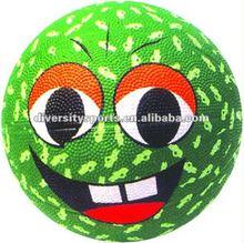 Smile Face Mini Rubber Basket Ball