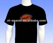 2012 fashionable el sound sensor t-shirts