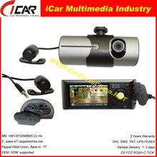 2012 Latest New Design AV IN Car Dvr Model:DVR8000 Dual lens 2.7ch G-sensor car dvr recorder