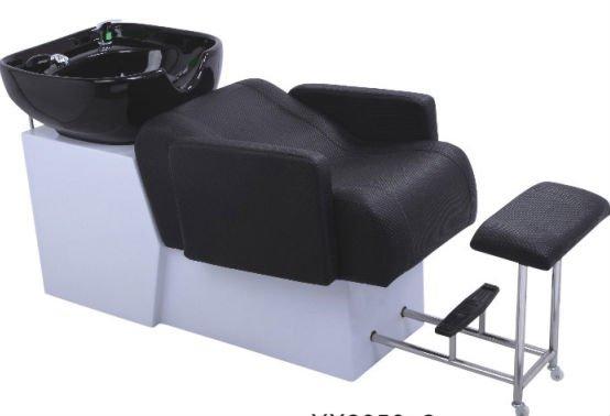 Backwash shampoo units hair washing salon bed with basin for Salon basins for sale