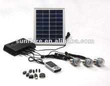New design 4w portable small solar generator for home use