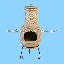 Garden supply outdoor clay bbq chimineas