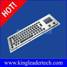 Illuminated metal pc keyboard integrated touchpad,panel mount IP65 keyboard