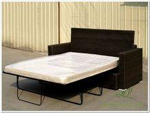 Modern rattan sofa cum bed or loveseat furniture