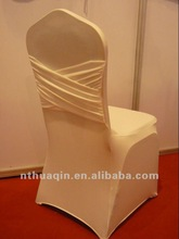 2012 elegant new design spandex chair cover with sash lycra chair cover nylon fitted chair cover for wedding party and event