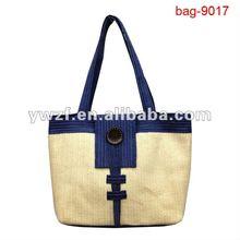 fashion faminly straw beach towel bag pattern 2012