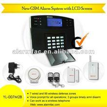 50% discount!!home security system gsm based/gsm black electronic alarm clocksystem