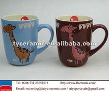 ceramic giraffe mug