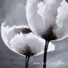 hot ! handmade decorative flower oil painting on canvas 2012