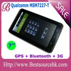 """7"""" Qualcomm MSM7227 WiFi 3G/GSM GPS Bluetooth Capacitive MultiTouch Screen Tablet PC Phone"""