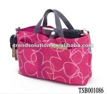 hot sale polyester bag in bag handbag organizer