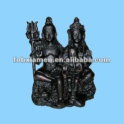 Resin India god crafts family of ganesh and shiva