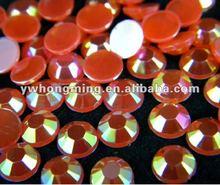 Best price!Sale promotion!Red AB color flat back acrylic rhinestone,6mm round acrylic stone,faceted acrylic rhinestone!