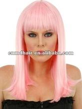 pink Medium Length Cosplay syntheitc Wigs