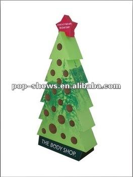 Christmas tree shape cardboard display