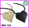 cheap good wood necklace Heart pendant Egyptian Necklaces beaded Pendant
