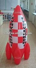 PVC inflatable rocket