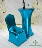 metallic-spandex cocktail table covers / banquet chair cover MSct-ZBc15