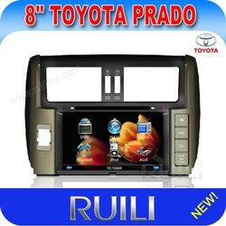 toyota prado 8 inch 2 din car gps/car audio/car video with TV USB Bluetooth RDS ipod digital touch screen high resolution