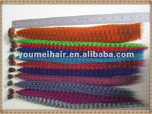 High quality and unique design cheap feather hair extensions/long feather hair extensions