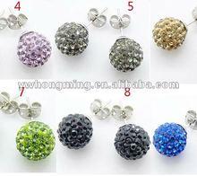 2012 Crystal Shamballa Earring!!Wholesale Shamballa Earring stud design!!