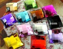 16mm square acrylic rhinestone,flat back acrylic rhinestone,mix color acrylic flatback beads!
