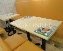 Künstlicher Marmorkonferenztisch und Stuhl
