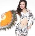 Ventilador de calidad superior de la pluma del pavo real de la danza de vientre