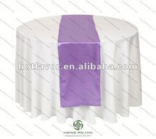 lavender Satin Table Runner(Table Flag)