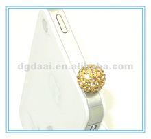 Fashion cell phone dust screw jack plug