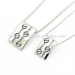 Fashion jewelry couple necklace-love story