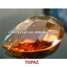 topaz 50mm crystal almond /pear chandelier prisms beads, crystal hanging teardrop prisms