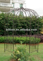 2012 china manufacturer galvanized decoration wrought iron gazebo for outdoor