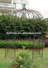 2012 china manufacturer galvanized decoration wrought iron gazebo for outdoor