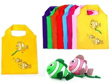 2012 cheap folding bags/yiwu polyester folding bags rose/dog/fish
