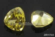 2012 low price zircon beads flat triangle approx 6mm in diameter