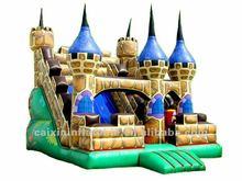 inflatable fun park city slide, castle slide, Aladdin castle slide