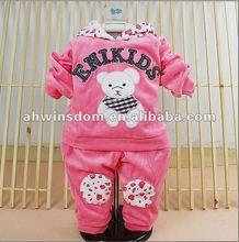 2012 fashion bear cartoon printing children set