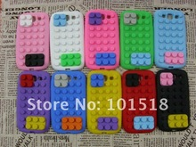 Fashion Building Block Style Soft Silicone Case Cover For Samsung Galaxy S3 SIII i9300