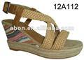 De tacón alto 2013 mujeres atractivas de la cuña de las sandalias