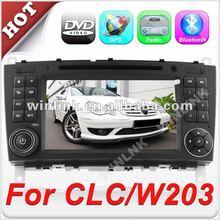 7'' 2 din HD Touch Screen car dvd and gps for Mercedes-Benz C-Class W203 CLC G-Class w467
