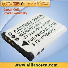 Replacement Sanyo Camcorder Battery DB-L80, Compatible D-LI88, PX1686E-1BRS Fit PENTAX Optio WS80, Optio W90, Optio P80