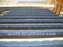 indoor fire-resistant retractable folding chair,arena retractable seating system, telescopic tribune,bleacher